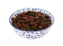 raisins-blue-white-china-bowl-porcelain-floral-design-isolated-background-50641569